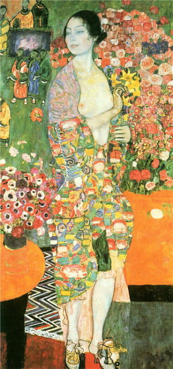 paperimages:  Gustav Klimt, Die Tänzerin (The Dancer), 1916.
