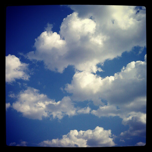 Stupid clouds lookin all puffy. #clouds #cloudporn #mrbluesky (Taken with Instagram)