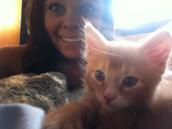 Me and the cutest cat ever.