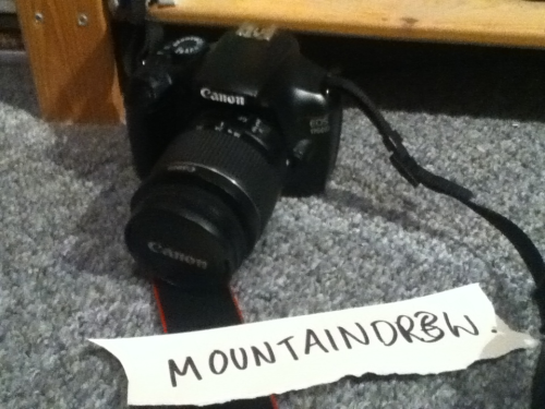 mountaindr3w:  Cannon 1100d camera giveaway! so basically my nan and grandad recently got me a new dlsr, but my old cannon 1100d works perfectly fine and i dont want to sell it becuase it wont go for much and id ratehr give it away! you MUST be following me to have a chance of being selected: http://mountaindr3w.tumblr.com/  and reblog this post for a chance to win! (likes do not count) on the 30th of June i will look through the notes and select a winner then imbox you to discuss shipping ect. im sorry but i cannot provide a charger for the battery but you can pick one up on amazon for a few pounds! happy reblogging! and good luck x