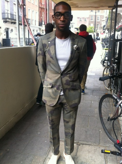 Epic: Tinie Tempah In A Camo Suit