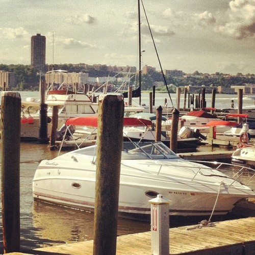 Docked on the Hudson (Taken with Instagram at Boat Basin Café)