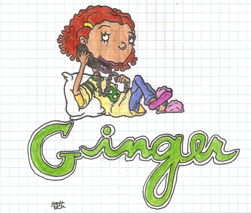 summer school math class doodle number 4: Ginger