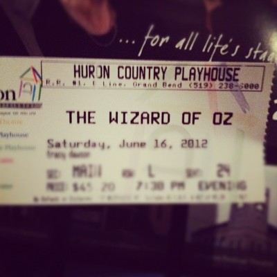 At the #theatre to see #Wizard of #Oz  (Taken with Instagram)