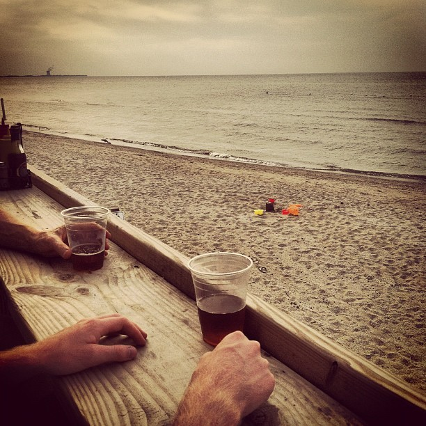 Beers on the beach. (Taken with Instagram)