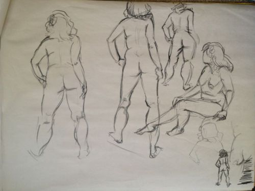 Today's figure drawing session!