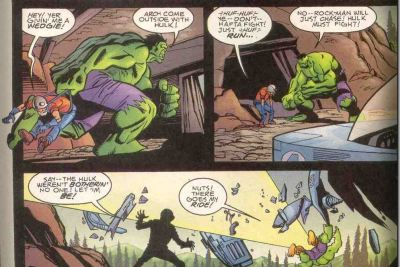 This is the past 45+ years of The Incredible Hulk in a nutshell. It's sad, really, he really just wants to be left alone. :/