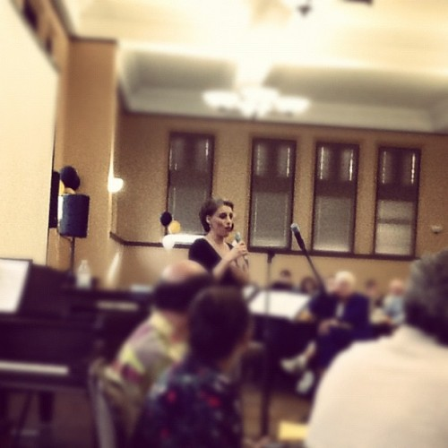 Judy Kuhn - EW #oberlin  (Taken with Instagram)