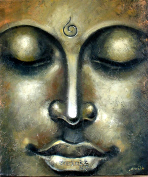 artemisdreaming:  Gautama Buddha - J. Kalidass, Gallery of Gnani Arts . Hatred does not cease by hatred, but only by love: this is the eternal rule. . Buddha