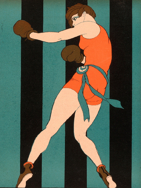 "theshipthatflew:  booglarized:Girl Boxer - Women of the Future (1925), Ernesto ""El Chango"" García Cabral docarelle"