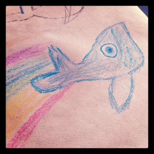 Coffee shops with crayons are the best! Hi Willow! (Taken with Instagram)