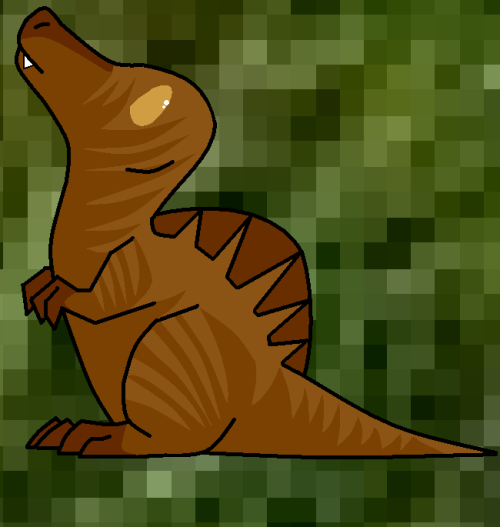 Hi. My name is Melusine. Female Spinosaurus. I am official and professional. How can one be professional as a dinosaur? Don't ask that. I am way more interesting than that stupid happy-go-luck T-rex. Besides. I am bigger, and by the most, way more stronger. So go ahead. ASK ME questions. Not her.