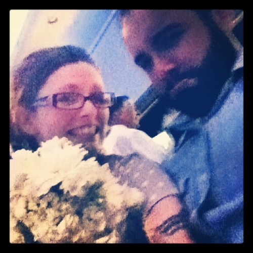 Guess who caught the bouquet!!!!!!! @gonkulator68 isn't very happy.. #weddingweekend #ifyoulikeitthanyoubetterputaringonit # (Taken with Instagram)