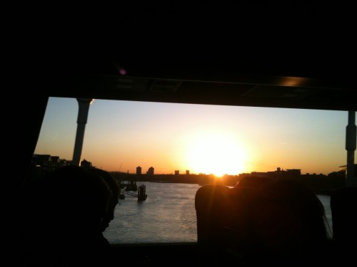 Sunrise from London Bridge