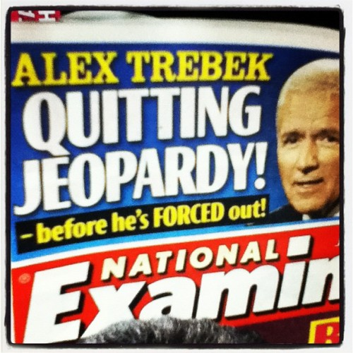 Somehow I highly doubt this is true… #AlexTrebek #Jeopardy (Taken with Instagram)