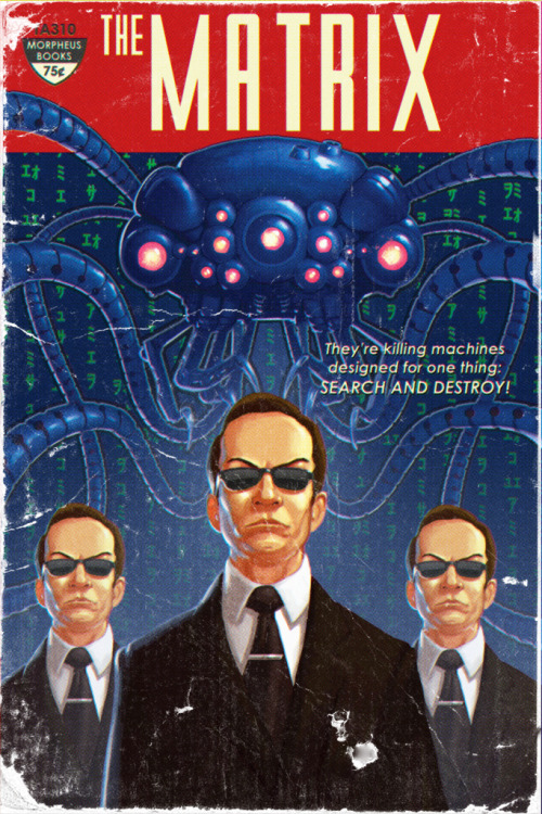fuckyeahsciencefiction:  fuckyeahsciencefiction Matrix Pulp Cover by Timothy Anderson