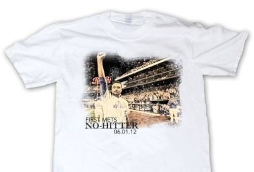 Mets giving away these Johan Santana no-hitter T-shirts at this Tuesday's game. - @darrenrovell
