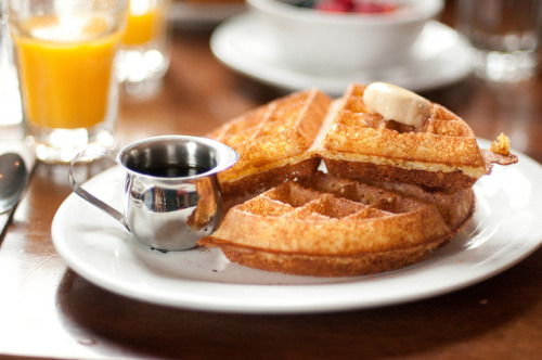 Cornmeal Waffles by *linda on Flickr.
