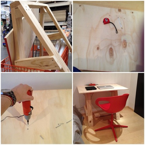 Proceso Home-Made Desk by Gilda Máynez #wood #design  (Taken with Instagram)