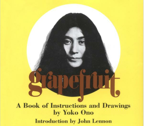 #FYA2day Grapefruit: A Book of Instructions and Drawings by Yoko Ono from Amazon ($12.24)