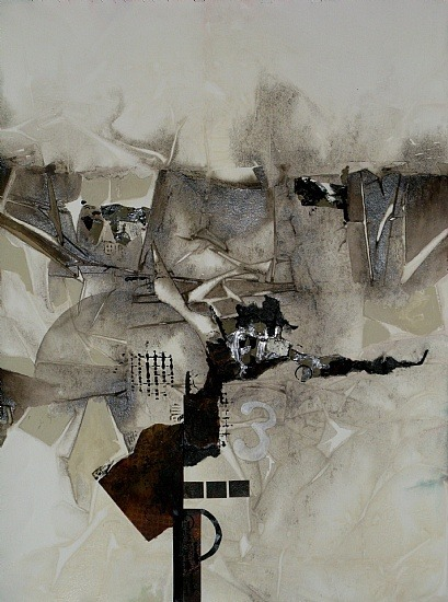 "dailyartjournal:  Sue St-John, ""Break II"", mixed media"