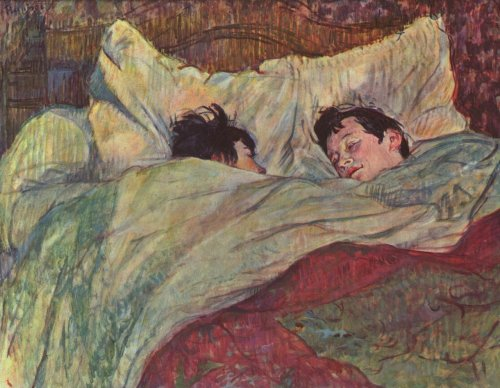roseweightless-blue:  Henri de Toulouse-Lautrec, In Bed, c. 1893