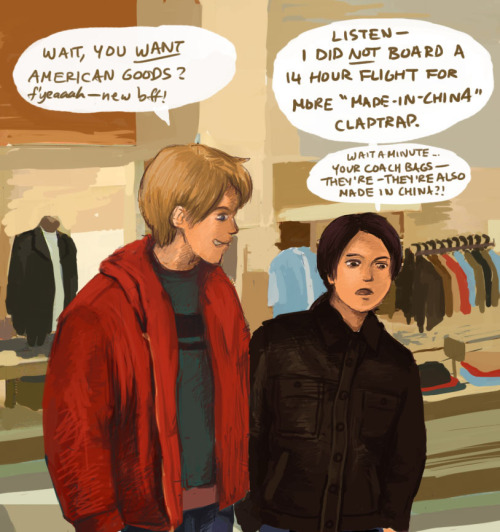 fyeahamechu:  APH - shopping spree by weird_number (@ LiveJournal) / kleptom ( @ deviantART) Be sure to read the artist's comments! The context of this picture is pretty amusing.