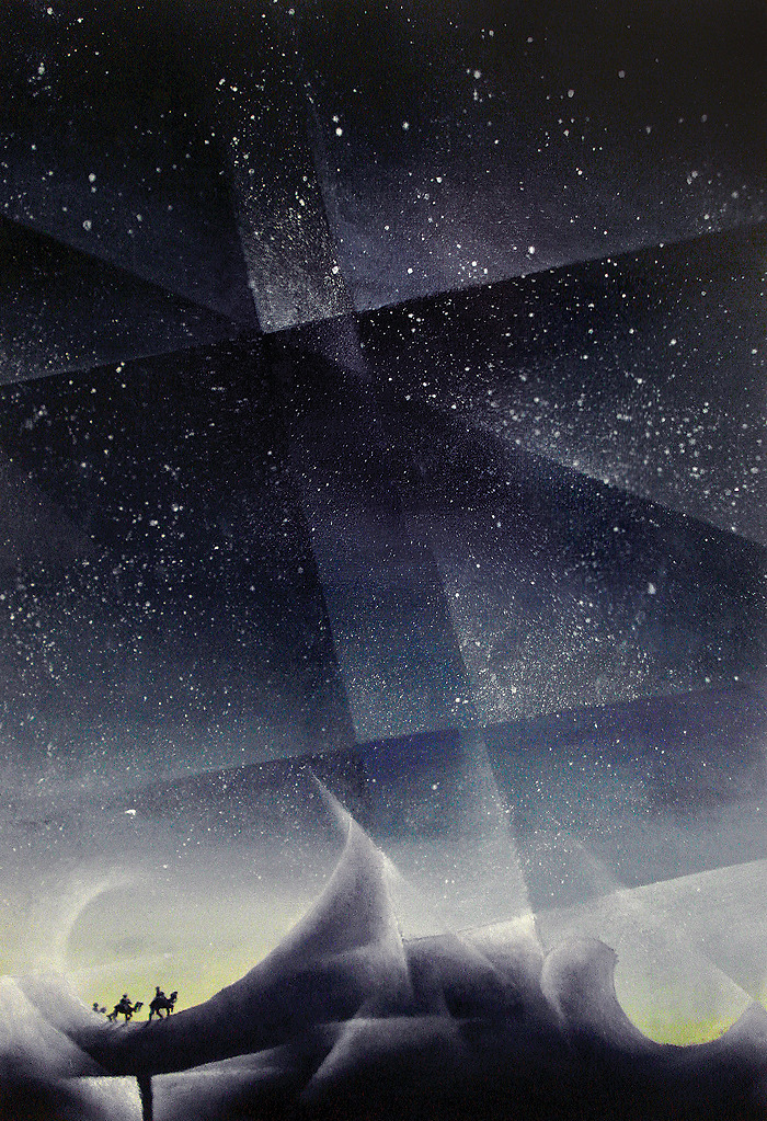 eatsleepdraw:  Pilgrimage. Oil on paper. 23.4 x 16.5 in. 12 June 2012. By Alfred Marasigan