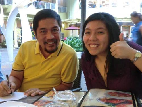 I'm a daddy's girl. With a dad like Dr. Ricky Conde, who wouldn't be? Happy father's day, Dad! I love you!