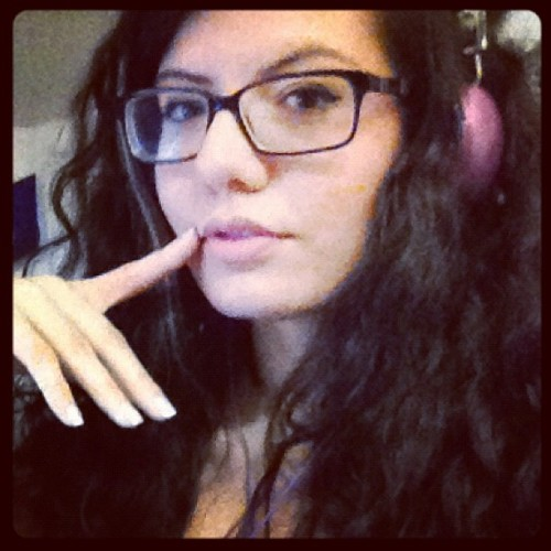 Big ass hair, long ass nails. #girl #music #hair #brunette #iphone #glasses #igers #instagram #instadaily  (Taken with Instagram)