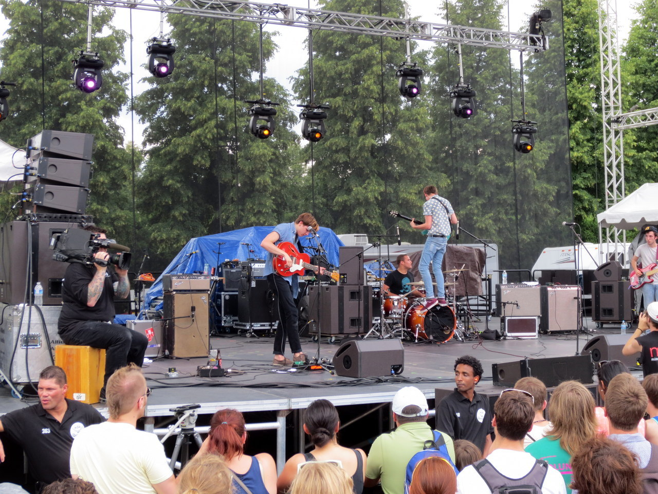 Howler, performing at Rock the Garden. #Minneapolis
