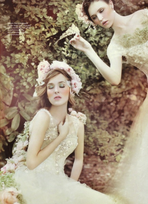 helloweddingdiary:  Harper's Bazaar Wedding Ideas Indonesia magazine. Rusly Tjohnardi advertorial