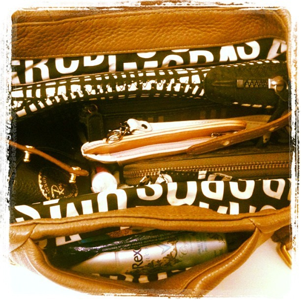 17/30 #photoadayjune Inside your bag  (Taken with Instagram)