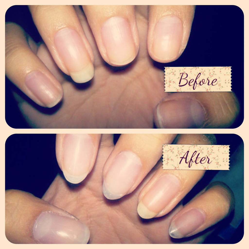 The before and after. This week my nails have been breaking incessantly. SO DEPRESSING. All the fingers minus my ring finger got replacement Acrylic Overlays, with my first time talons :)