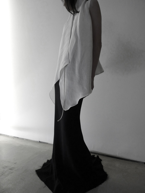 aboutdesigncorp:  a'bout latest. wrap blouse | undone