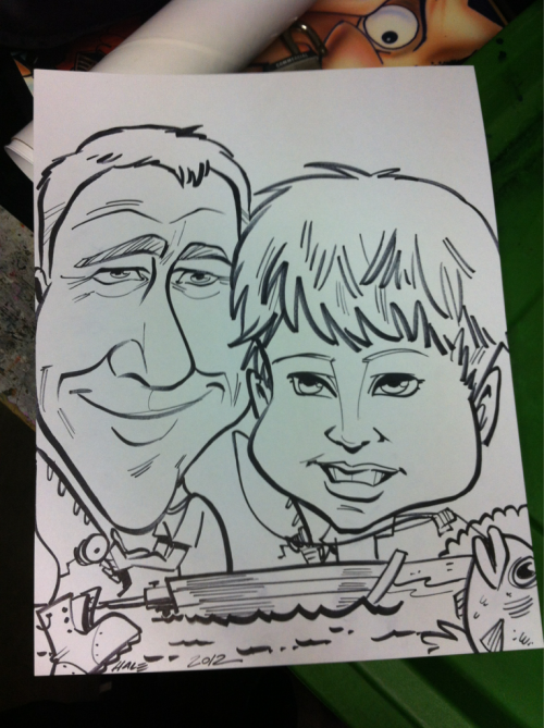 Kid & Gramps fishing… There's just something I like about this drawing, but I'm not sure what it is…