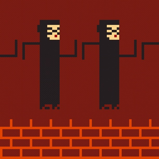 Me If I was a twin - pixelated! #pixelart (Taken with Instagram)