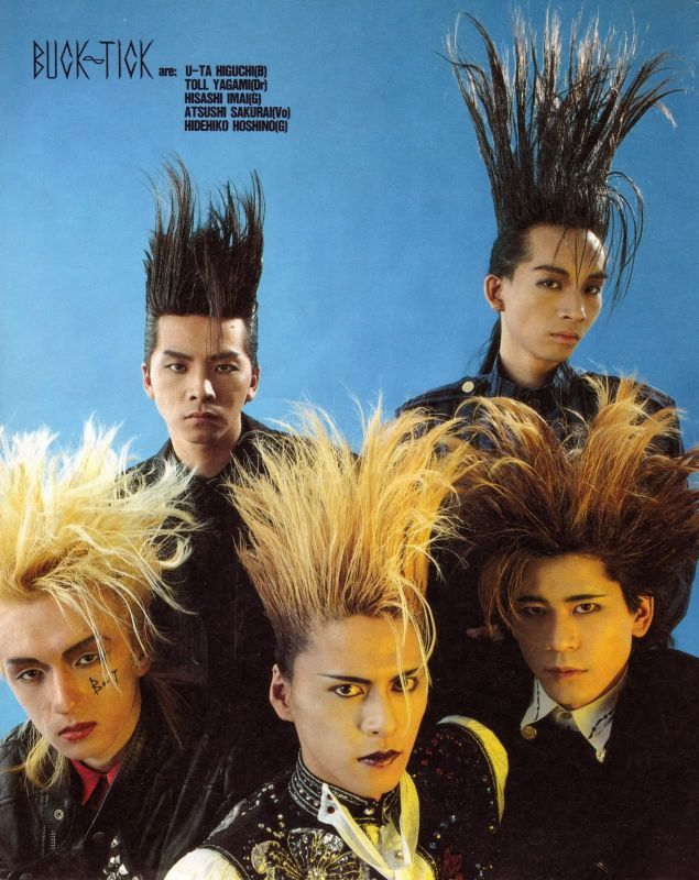 Old-school Buck-Tick. Reblogging for the Best Hair.