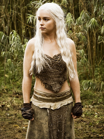 Day 9: A photo of your favorite television character.   Daenerys Targaryen from Game of Thrones. This was tough at first because I like Jess from New Girl and totally identify with her, the same with Hannah from Girls. I'm all awkward like her, but Daenerys is my favorite. When the show first started I didn't like her. I felt bad for her because her brother basically treated her like she was a whore. She was just so weak and sad and then she found her inner strength. To me she is a symbol of strength now. She survived so many awful events that many women I think wouldn't be able to and came out stronger. She's someone girls should look up to and can remember when they have to face difficult times in their own lives.