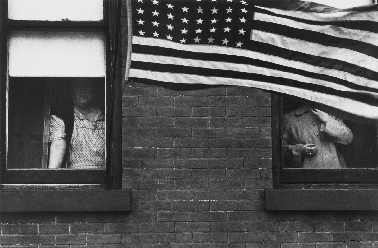 bygoneamericana:  Parade in Hoboken, New Jersey, 1955. By Robert Frank
