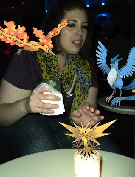 soundlyawake:  Trainer Justine with her legendary pokemon.