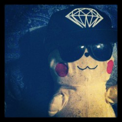 #pikachu #pokemon #swag #fresh #yolo #diamondsupply #cool #shades (Taken with Instagram)