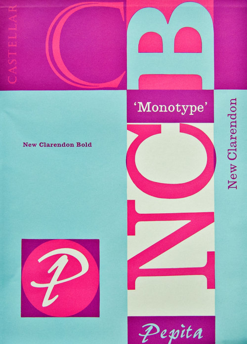 Very nice #typography 1961 Monotype Clarendon Bold - more on the link