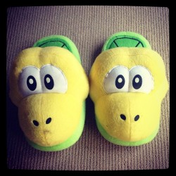 15. Yellow. My Yoshi slippers :D #photodayjune #yellow #day15 #yoshi #slippers #cute (Taken with Instagram)