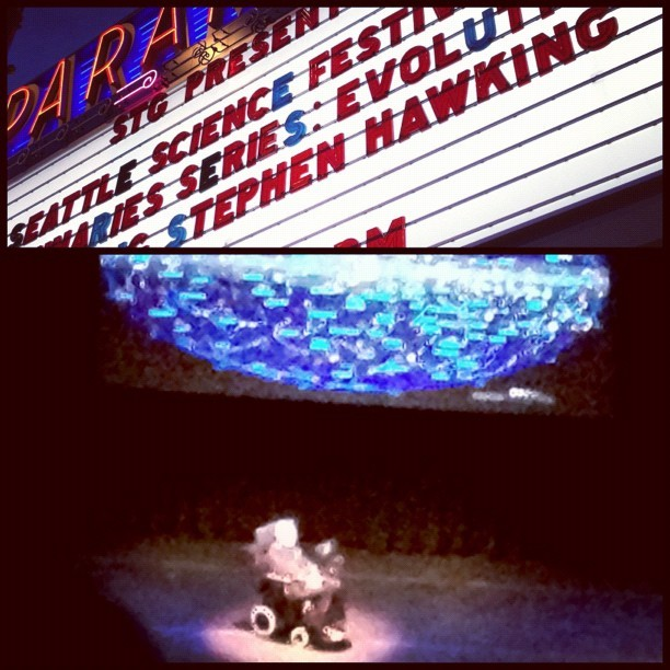 My evening: from baseball to brane theory #Hawking (Taken with Instagram at Paramount Theatre)