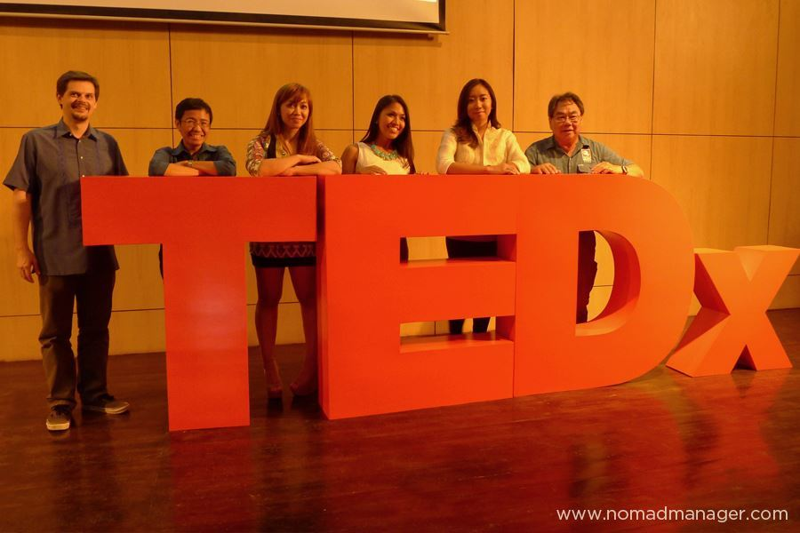 "DREAMERS & DOERS: The TEDxKatipunan Takeaway What is the change I want to see in the world, and what am I doing to make that happen with myself today? This is the thought that was in my head while listening to the speakers at TEDxKatipunan, over dinner with my Punchdrunk Panda partner Nica right after, over a post-dinner hangout with friends, and the moment I woke up this morning. One of my top passions is to be a ""brainwasher""; to make people consider my thoughts, my values and the things I love, and hopefully induce a change in their way of thinking that will effect change in their way of doing. I try to do that in the way I live my life and the content I create for this blog. And one day, I hope to be able to have the honor of communicating those thoughts in the same manner that yesterday's TEDxKatipunan speakers did. For those of you who weren't able to attend, here's my synthesis. [[MORE]] And for those of you who did attend, this is a reminder, so you won't forget some of the valuable things that were shared with us. Modern-day Revolutionary #1: Dylan Wilk, CEO, Founder, Human Heart NatureHis Revolution: To show love of country through patronage of locally made goods helps circulate money within the country, and hopefully pays to help educate, shelter and feed our own countrymen.My Favorite Bits: ""Love of country cannot just be singing the national anthem. It has to be in our mouth, our hearts, and our pockets""; ""Less for self, more for others, enough for all"" My 2 Centavos: As a Filipino entrepreneur, I would naturally be a lover of this idea. There is SO MUCH TALENT HERE. We just need to recognize and support that. This also poses a challenge to all Filipino entrepreneurs to really develop the best products, services and business practices so that Filipinos will not have to look elsewhere, because Filipinos can do it too, and better. And really, this is something we should know on our own, without having to wait for a British guy to tell us. Modern-day Revolutionary #2: Arriane Serafico, Blogger, Postura ProjectHer Revolution: To start mini-revolutions in everyone, and support the local industry simply by wearing something Filipino everyday, and to stop overthinking your personal revolutions and just jump!My Favorite Bits: ""I will never let anybody tell me that my dreams are too big. Because I know better""; ""As a wise person once told me…kebs."" (on just going for it, whatever it is you want to change/achieve); My 2 Centavos: PdP collaborator Arriane's talk tied in well Dylan's talk on supporting local industries and really buying Pinoy. Her sharing on our revolutions also echoes my thoughts on being passion forward, and what should really drive us. But I think most importantly, though in no way do I mean to undermine Arriane, on paper, she may seem the least impressive among the speakers, but the fact that she encouraged the audience to really go out there and start our own revolutions no matter how small, coupled with the (ngalay-inducing) pledge she had us make, was really powerful. Modern-day Revolutionary #3: John Chua, Advocate, Photography With A DifferenceHis Revolution: To find ways to understand and change the lives of persons with disabilities through his passion in photography, and to use one's social media network to help really take projects like PWD and the Batad Rice Terraces restoration off the ground.My Favorite Bit: ""If you have no budget, the sky's the limit!""My 2 Centavos: There is profound strength in the role of social media in social change, which also reminds me of Jay Jaboneta's story on the Yellow Boat Project. It really just goes to show how willing people are to help if you just give them an avenue to contribute what they can, if not with finances, then with their knowledge, skill, and most importantly, clout. Modern-day Revolutionary #4: Anna Oposa, Chief Mermaid, Save Philippine SeasHer Revolution: To stop global whining. And to save the Philippine seas, home of the richest marine biodiversity in the planet, by stopping its abuse and destruction through legal discourse, social media, education, and enforcement of conservation programs.My Favorite Bits: ""The worst global issue is apathy""; ""Boys are replaceable, marine wildlife is not.""My 2 Centavos: I've listened to Anna speak at the first IMMAP Open Mic Night, and a lot of what she said yesterday were the same ideas she shared back then. And it was still as great to hear. Her talk was like an amped up version of Arriane's talk on starting your own revolution and Anna is a prime example of the tsunami-esque waves a single person can make that create ripples that the whole world can see, feel, and be inspired by. We whine and bitch and judge others a lot for the actions, while we sit idly waiting for change to happen. Anna reminds us to STOP MAKING EXCUSES. Modern-day Revolutionary #5: Pie Alvarez, 24-year-old Mayor, San Vicente, PalawanHer Revolution: To get younger people into governance and ""wake-up"" the system.My Favorite Bit: ""Mahatma Gandhi said…oh my God! Wait no, he didn't say that. Mahatma Gandhi said be the change you want to see in the world."" (while fretting over the uncooperative slide remote thingee)My 2 Centavos: Pie also encourages us to look at our core, at what we are naturally good at or what we are naturally drawn to do, and see how we can use that to create change. For her, her ""naturally bossy"" self and her desire to solve the people's problems are what got her to where she is. And I agree that we need more young, idealistic, untainted people like her in the system if we want to change it. This is not to discount the experience of the older generation, but the addition of young blood is very necessary for change. I took a picture with her in case she becomes President. Modern-day Revolution #6: Maria Ressa, CEO & Executive Director, RapplerHer Revolution: To fight corruption by encouraging us, the youth especially, to draw a line we will never cross.My Favorite Bits: ""Evil is knowing better but doing worse""; ""Sometimes doing the wrong thing seems to be the only way to get ahead. You have to find the courage to say NO. The first time is always the most difficult. But it defines you moving forward""; ""When you choose to draw your line and you choose to stay on the idealistic side you have the possibility of translating that action through your social networks""My 2 Centavos: Nothing and no one could have ended the series of yesterday's TEDx talks more perfectly then Maria Ressa. After all the prior talks, especially from the younger speakers, the audience was inspired, pumped and ready for action. But Maria's perspective was very necessary to remind us of the bumps along the way, the tests of character, the very real temptations that lure us towards corruption. I can only hope that once we all involve ourselves in these pursuits for the betterment of our country, that our ideals and our principles remain intact. And that we never cross the line we've drawn. These 6 individuals really give me hope in Filipinos, and in effect, in the Philippines. So now, I turn the question to you. What change do you want to see in the world, and what are you doing the make that happen with yourself today? Jen Follow my tweets • Find me on Facebook • Sign up for my newsletter • E-mail me"