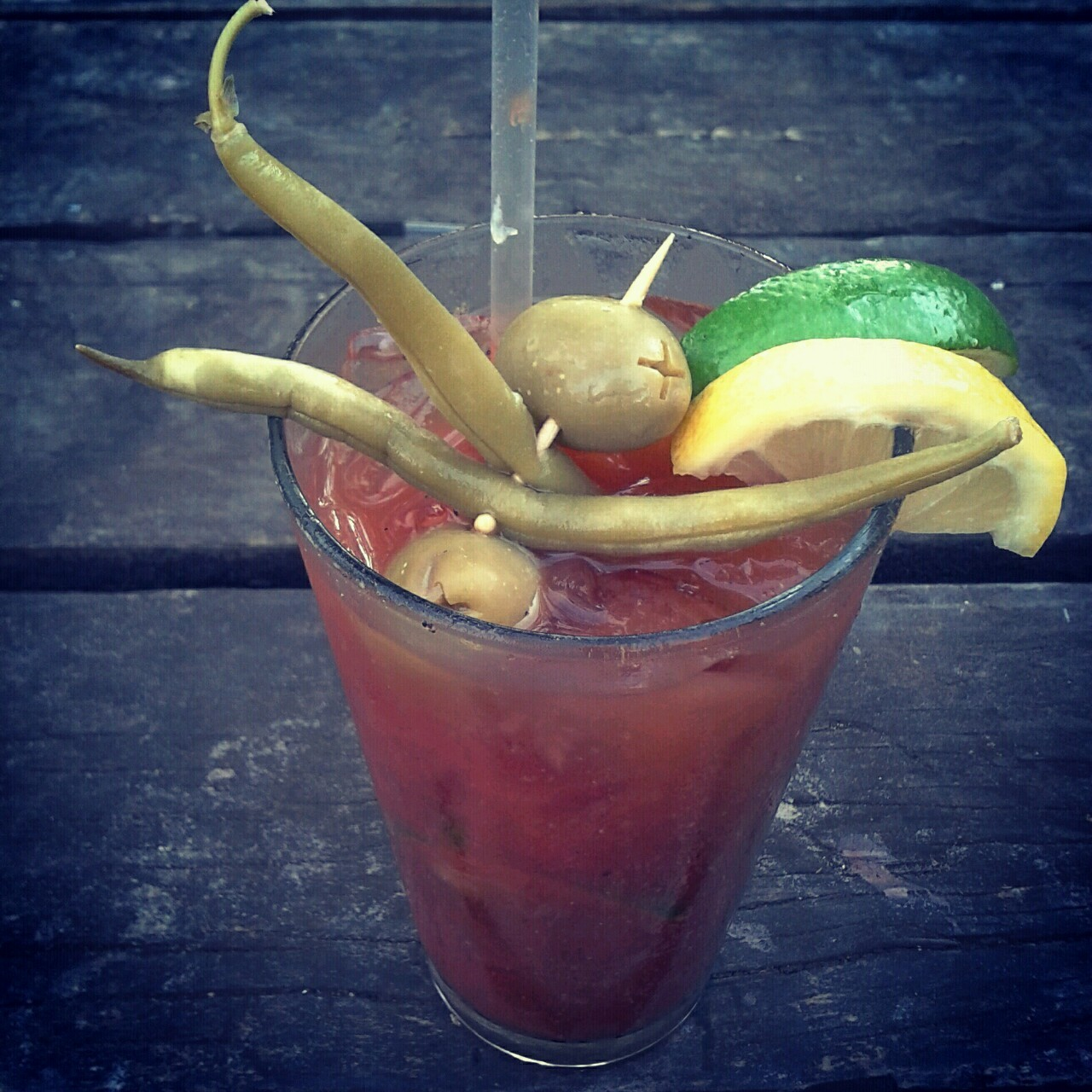 smellthemagic:  The best bloody mary ever!  Ugh I could REALLY go for a bloody mary from Zeitgeist right now…
