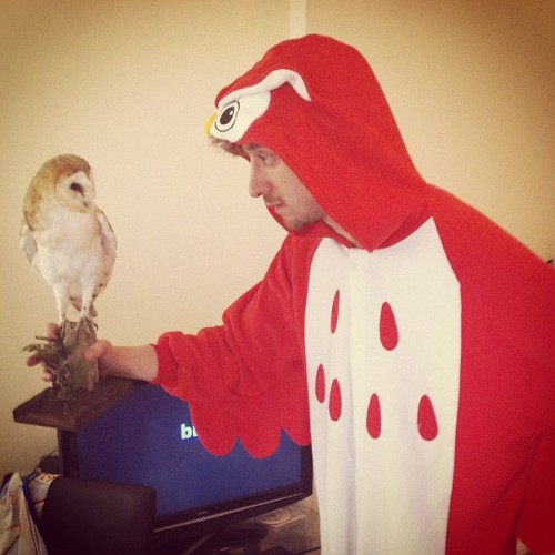 i-want-a-rory:  HE. HAS. AN. OWL.