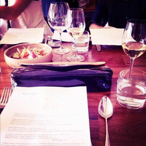 yesterday's @pourlavictoire dinner (Taken with Instagram at Bar Tartine)