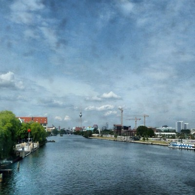 The Spree from Oberbaumbrücke, Berlin (Taken with Instagram)